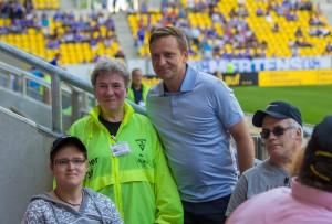 Horst Held gratuliert dem Geburstagskind